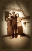 "on board the steamship circa 1934- this is a photo of ""Lauren"" and another passenger from my story of her summer journey, ""A Canticle for Meg"""