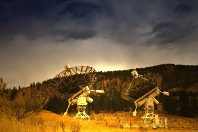 Radio Observatory in Okanagan, R2D2's at work