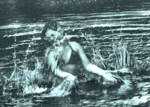 splashing with the naiad in the lake