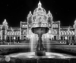 Nighttime at the House of Parliament, Victoria, BC