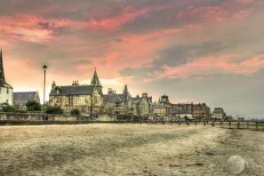 North Sea promenade on the Firth of Forth
