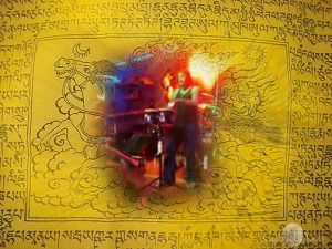 Buddhist prayer flag - the windhorse and you on the kit