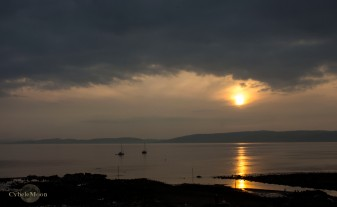 Sunset on Arran Isle at Blackwaterfoot, Kinloch