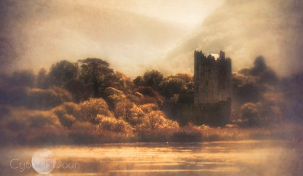 Ross castle across the lake
