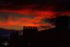 Sunrise over Inverness chimneys