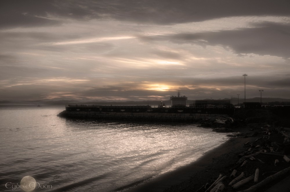 breakwater wintersepia