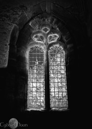 A window of light in Dunkeld, Perthshire