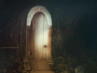 door at the foot of the garden- only seen in moonlight