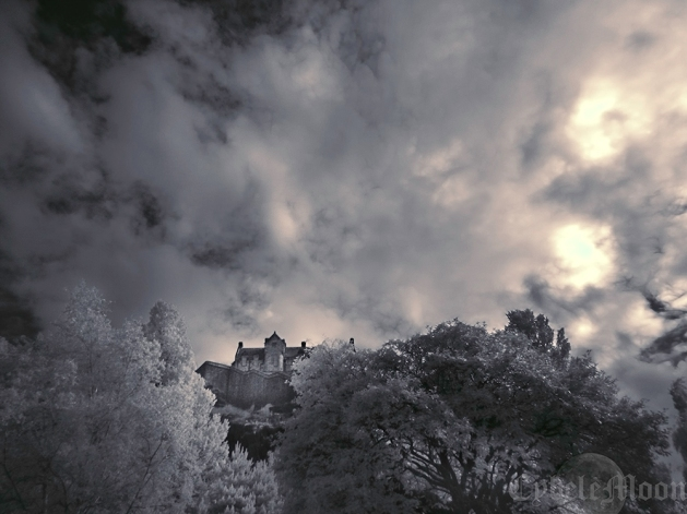 Dramatic skies on Castle Rock