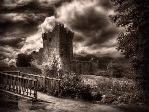 ross castle sepia