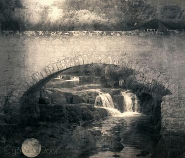 little bridge at Blackwater Foot in Kinloch on the Isle of Arran