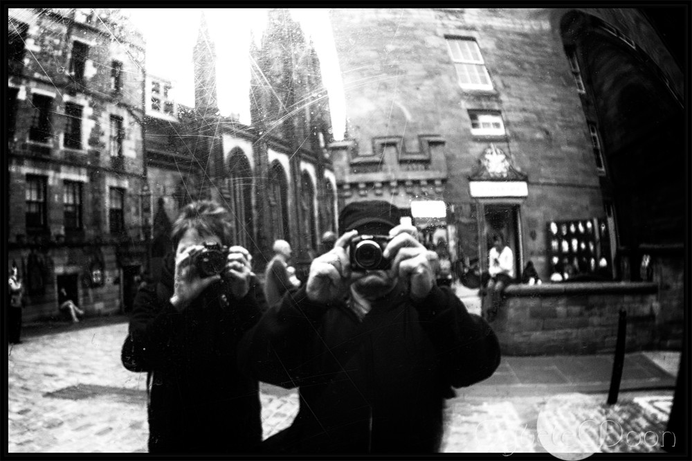 the Royal Mile mirrors
