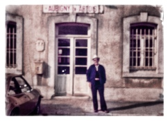 dad at train station in Aubigny-en-Artois